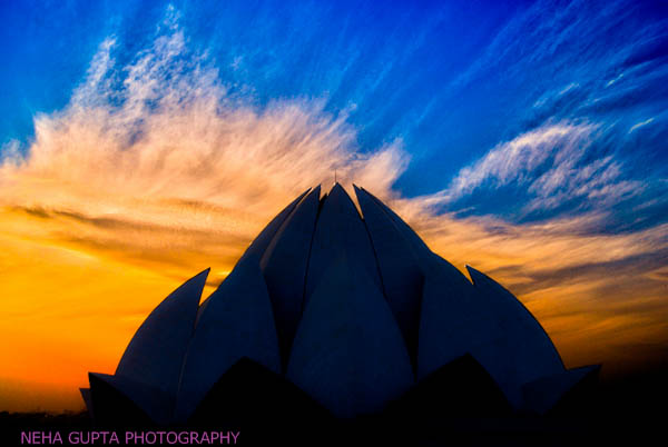 sunset at lotus temple by Neha Gupta
