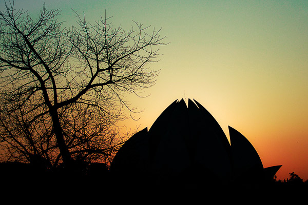 Sunset at lotus temple - Landscape photography by Neha Gupta