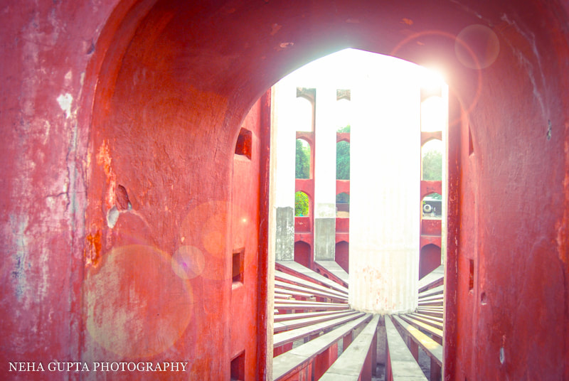 Sunrise at New Delhi's Jantar Mantar