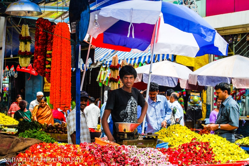 a photowalk in Bangalore's jayanagar flower market